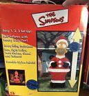 The Simpsons 8 Santa Homer DOH NUTS 2004 Gemmy Airblown Christmas Inflatable