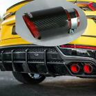 63 89mm Real Carbon Fiber Sport Style Glossy Black Red Car Exhaust Muffler Tip