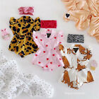 US Newborn Baby Girl Summer Ruffle Sleeveless Romper Jumpsuit Outfits Clothes