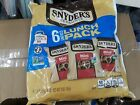 LOT OF 6 SNYDER'S 6 COUNT LUNCH PACK MIN I PRETZELS CONVENIENT LUNCH BOX SIZE