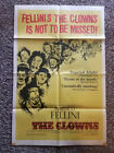 THE CLOWNS Original Movie Poster 1970 One Sheet 27x41 FEDERICO FELLINI Folded