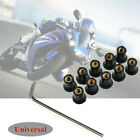 10x M5x15mm Motorcycle Windscreen Windshield Fairing Screen Nut Bolt Screws Set