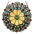 Victorian Floral Stained Glass Hanging Window Panel Tiffany Style Suncatcher 18