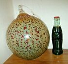 LARGE HANDCRAFTED HANGING GLASS BALL 8 1 2 WIDE FREE SHIPPING