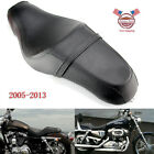 2 Up Seat Saddle Black For Harley Sportster XL883N XL1200N Iron 48 72 2005 2013