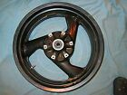 DUCATI OEM 851 750 900 SS MONSTER BLACK REAR WHEEL & ROTOR 17MM AXLE 5 1/2 WIDE