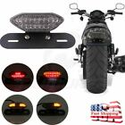 Univsersal LED Motorcycle Turn Signal Brake License Plate Integrated Tail Light