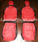 2010 2015 Chevy Camaro Coupe or Convertible Leather Seat Covers Black and Red