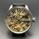 OMEGA BLUE  GOLD Skeleton Classic Elegant Marriage Pocket Watch Movement