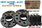 4 Pc 20mm Black Audi 5x112 Hub Centric Wheel Spacer Kit 666 Hub Fits Q5 SQ5
