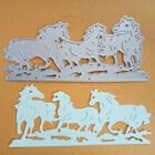 Horses Racing Running Border Metal Cutting Die Scrapbooking Album Card Making