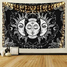 USA Sun and Moon Tapestries Wall Hanging Buring Sun Psychedelic Tapestry Home