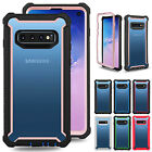 For Samsung S10 Plus S10e Note 10 S9 Clear Rubber Hybrid Bumper Back Case Cover
