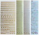 ALPHABET LOWERCASE Peel Off Stickers 10mm Letters Card Making Scrapbooking