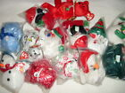 TY BEANIE HOLIDAY TEDDY SANTA GINGER SPICE CANDY CANES CAND-E  CHRISTMAS