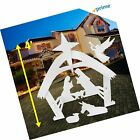 EasyGO Outdoor Nativity Christmas Decoration Outside Yard 4 Foot Tall