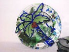 Art Glass Dessert Plates Jan Mitchell Artist Signed Coconut Palm Heat Infused