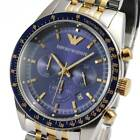 100% New Emporio Armani AR6088 Two-Tone Stainless Steel Men's Chronograph Watch