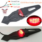 Red LED Enduro Fender Lamp Stop Brake Lights Tail light For Motorcycle Dirt Bike