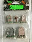 LEMAX SPOOKY TOWN HALLOWEEN 5 PC PKG  GRAVEYARD TOMBSTONES VILLAGE ACCENTS NEW