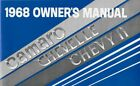 NOS ORIGINAL 1968 CAMARO CHEVELLE CHEVY II SS Coupe Convertible OWNERS MANUAL