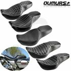 Two Up Rider and Passenger Seat Smooth For Harley Road King FLHR 1997 2007