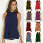 Womens Summer chiffon Vest Top Sleeveless Blouse Casual Solid Tank Tops T Shirt