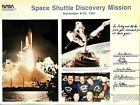 NASA ASTRONAUT CREW SIGNED Space Shuttle Discovery Mission STS 51A Photograph