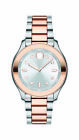 MOVADO BOLD 3600430 TWO TONE STAINLESS STEEL SILVER DIAL WOMEN'S WATCH