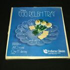 Vintage Indiana Glass Deviled Egg Relish Tray 11
