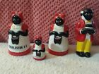 Aunt Jemima And Uncle Moses Salt Pepper Shakers  Toothpick Holder