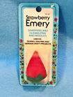 STRAWBERRY EMERY SHARPENS  CLEANS PINS AND NEEDLES