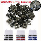 Colorful Motorcycle Screw Set Windscreen Fairing Bolts Kit Fastener Clip Washers