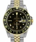 Vintage 1973 ORIGINAL Rolex GMT-Master Black Nipple 1675 Two Tone Gold Watch