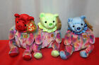 Lot of 3 TY Beanie Baby Happy Birthday July August September Bears K43