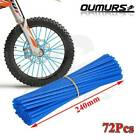 72x Spoke Skins Covers Motocross Dirt Bike Wheel Rim Spoke Wraps Skins Covers US