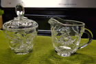 Sugar Bowl Set PRESCUT Clear Glass - Anchor Hocking