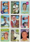1969 Topps Nice Lot of 116 Different VG VG-EX Incl Rookies Minor Stars Specials