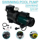 220V 075HP Swimming Pool Spa Circulation Water Pump W Filter basket