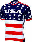 World Jerseys Team USA 1979 Retro Cycling Mens Jersey Red White Blue 2XL