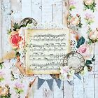 Handmade Shabby Chic Vintage Music  Roses 12x12 Premade Scrapbook Layout Page
