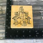 Art Impressions Retired Old Couple Man Woman Bench Sweet Rubber Stamp