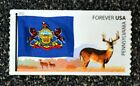 2011USA 4317 Forever Pennsylvania State Flags of our Nation Mint NH deer
