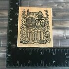 PSX Country Cottage Flowers Garden Home House Rubber Stamp