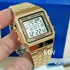 New CASIO Vintage Retro Gold A500WG-9 A-500WG-9 World Time Alarm Map Display