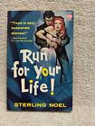 Run For Your Life by Sterling Noel 1958 Avon T 270 vintage spy thriller PBO