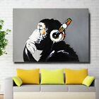 Modern Abstract Huge Wall Art Oil Painting on Canvas No Stretch Musical Monkey