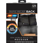 Copper Fit Back Lumbar Support Belt Brace Rapid Relief With Hot/Cold Therapy