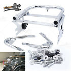 Fit 97 08 Harley Touring Quick Detach Two up Tour Pack Rack Mount+Docking Kits