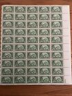US Stamps SC 987 American Bankers Assoc 3c sheet of 50 MNH 1950